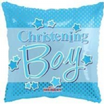 "CHRISTENING BOY BALLOON  18""  15157-18"